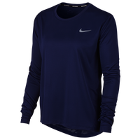 Nike Miler Long Sleeve Top - Women's - Navy