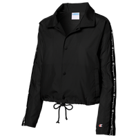 Champion Taped Cropped Coaches Jacket - Women's - Black