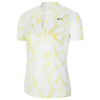 Nike Victory Summer Print Golf Polo - Women's - White / Yellow