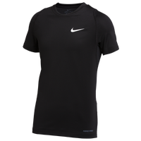 Nike Team Pro S/S Compression Top - Boys' Grade School - Black