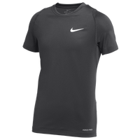 Nike Team Pro S/S Compression Top - Boys' Grade School - Black / Black