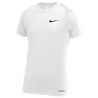 Nike Team Pro S/S Compression Top - Boys' Grade School - White / White