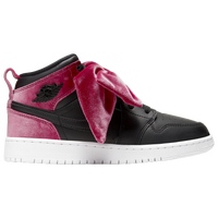 Jordan AJ 1 Mid Bow - Girls' Grade School - Red / Black