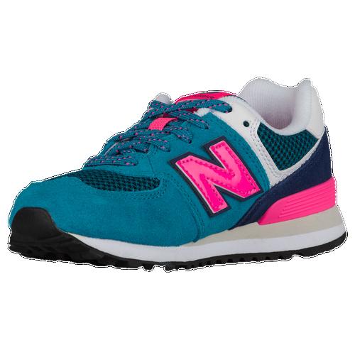 new balance 574 blue pink