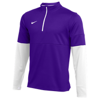 Nike Team Authentic Therma 1/2 Zip Top - Men's - Purple / White