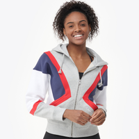 Champion Colorblock Zip Hoodie - Women's - Grey