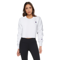 Champion Cropped Cut-Off Crew - Women's - White