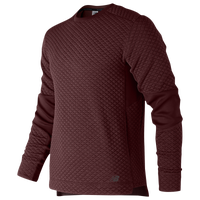 New Balance Heatloft Crew Neck Pullover - Men's - Maroon / Maroon
