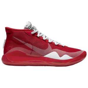 Nike Zoom KD12 - Boys' Grade School - Durant, Kevin - University Red/White
