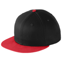 New Era Team Flat Bill Snapback Cap - Black