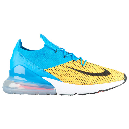 Nike Air Max 270 Flyknit - Men s - Casual - Shoes - Laser Orange Black Blue  Orbit Bright Crimson Navy 44912bc11