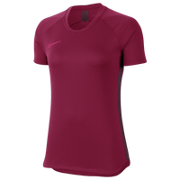 Nike Academy Knit Short Sleeve Top - Women's - Cardinal