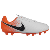 Nike Tiempo Legend 7 Club FG - Boys' Grade School - White / Orange