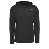 Nike Team Hyper Dry L/S Hooded Breathe Top - Men's - Black