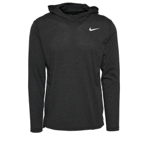 Nike Team Hyper Dry L/S Hooded Breathe Top - Men's - Black/White