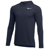 Nike Team Hyper Dry L/S Hooded Breathe Top - Men's - Navy