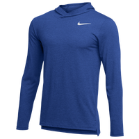 Nike Team Hyper Dry L/S Hooded Breathe Top - Men's - Blue