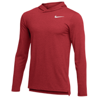 Nike Team Hyper Dry L/S Hooded Breathe Top - Men's - Red