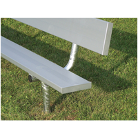 Trigon In Ground Mount Aluminum Team Bench