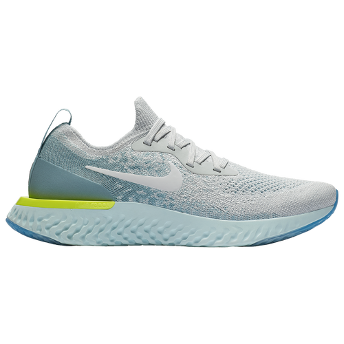 Nike Epic React Flyknit - Womens - Running - Shoes -  GunsmokeWhiteBlackGeode TealHot Punch