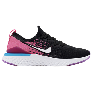 Nike Epic React Flyknit 2 - Girls' Grade School - Black/White/Pink Blast