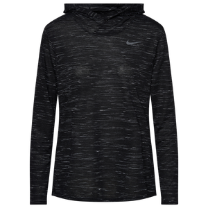 Nike Team Legend Veneer L/S Hoodie - Women's - Black/White