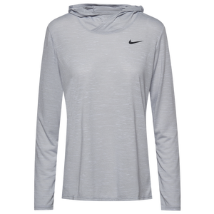 Nike Team Legend Veneer L/S Hoodie - Women's - Wolf Grey/Black