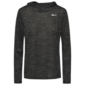 Nike Team Legend Veneer L/S Hoodie - Women's - Anthracite/White