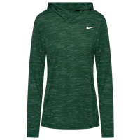 Nike Team Legend Veneer L/S Hoodie - Women's - Dark Green
