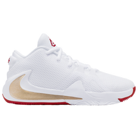 Nike Zoom Freak 1 - Boys' Grade School -  Giannis Antetokounmpo - White / Gold