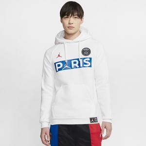 Jordan Psg Jumpman Fleece Hoodie Men S Basketball Clothing Paris Saint Germain White University Red