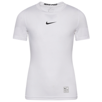 Nike Team Pro Compression S/S Top - Boys' Grade School - White