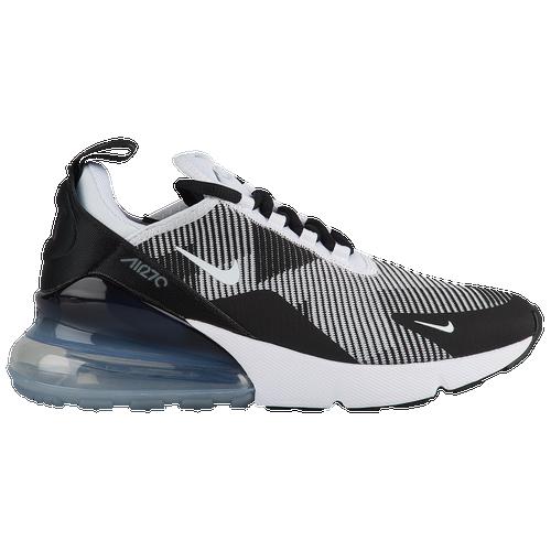 0bcf8e05beb Nike Air Max 270 - Boys  Grade School - Casual - Shoes - Black White Cool  Grey Met Silver