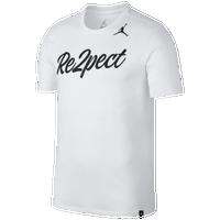info for 550b7 a9e14 Jordan Re2pect Script T-Shirt - Men s - White   Black