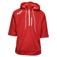 Rawlings Tokyo Short Sleeve Fleece Hoodie - Men's - Red / White