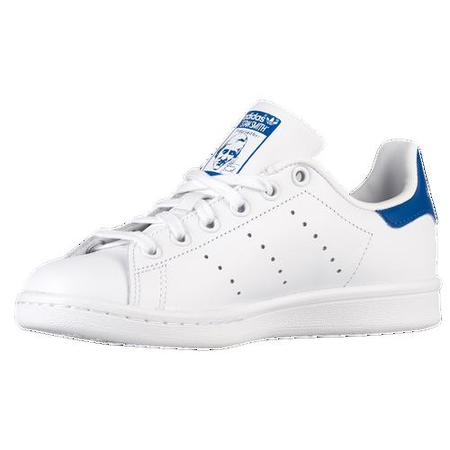 adidas Originals Stan Smith - Boys' Grade School - Casual - Shoes -  White/White/Legend Ink