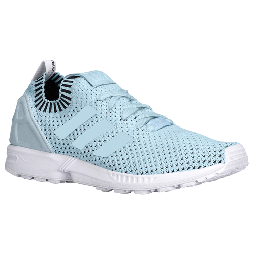 adidas Originals ZX Flux Primeknit  Mens  Running  Shoes  Ice  Blue White Black