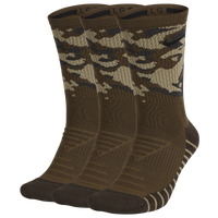 Nike 3 Pack Dri-FIT Max Crew GFX Socks - Men's - Olive Green / Brown