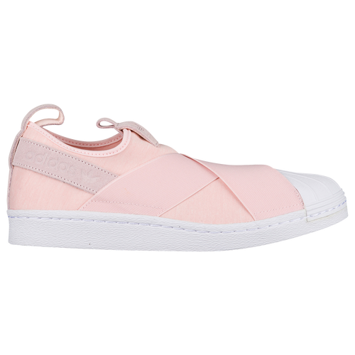 adidas Originals Superstar Slip On - Women s - Basketball - Shoes - Halo  Pink Halo Pink White 88cb08a3ff