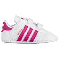 ADIDAS ORIGINALS SUPERSTAR White Black Gold Newborn Baby Sneakers S79916