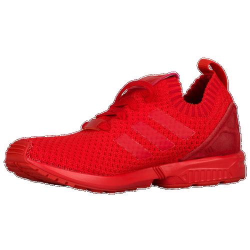 adidas Originals Boys Grade School ZX Flux Primeknit - Red/Red/Red