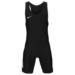 Nike Grappler Elite Wrestling Singlet - Men's - Black/White