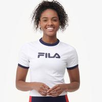 165db6f5eda522 Fila Tionne Crop T-Shirt - Women s - White   Navy