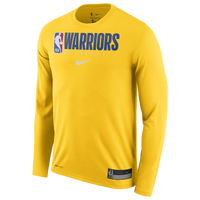 Nike NBA Graphic Practice L/S T-Shirt - Men's - Golden State Warriors - Yellow