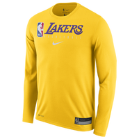 Nike NBA Graphic Practice L/S T-Shirt - Men's - Los Angeles Lakers - Yellow