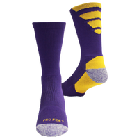 ProFeet Viper Crew Socks - Men's - Purple / Gold