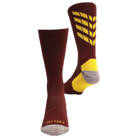 ProFeet Boost Crew Socks - Men's - Maroon / Gold