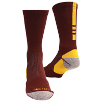 ProFeet Shooter 2.0 Crew Socks - Men's - Maroon / Gold