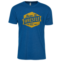 Cliff Keen Born to Wrestle Sueded Shirt - Men's - Blue