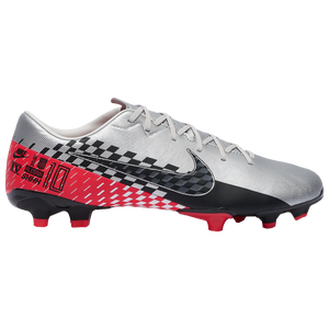 Nike Mercurial Vapor 13 Academy FG/MG - Boys' Grade School - Chrome/Black/Red Orbit